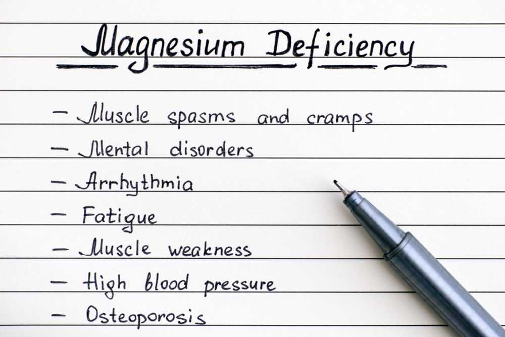 Magnesium deficiency symptoms
